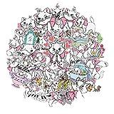 Pegatinas de dibujos animados para maleta, portátil, teléfono móvil, pegatinas, niñas, corazón, mano, pegatinas impermeables