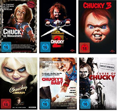 Chucky 1-6 DVD Set, deutsch, uncut, 1,2,3,4,5,6, Curse of, und seine Braut, Chuckys Baby I-VI, 6 dvds