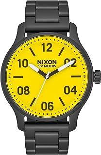 ساعة كلاسيكية للرجال من نيكسون باترول A1242-100m مقاومة للماء (وجه ساعة 42 مم، سوار من الفولاذ المقاوم للصدأ 21 مم - 19 مم).