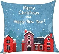 Nstcher Home Decor Cushion Cover Merry Christmas Pillowcase Sofa Throw Pillow Covers
