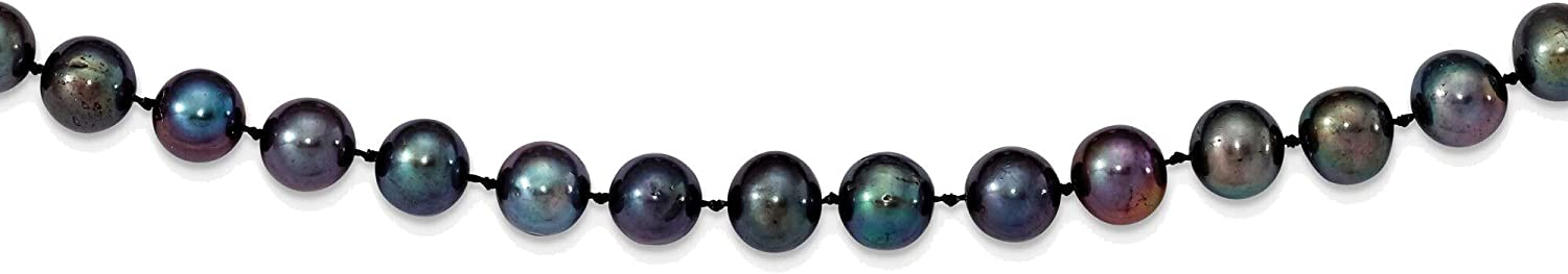 Bonyak Jewelry OFFicial shop 8-9mm Black Near Freshwater Pearl Japan Maker New Cultured Round