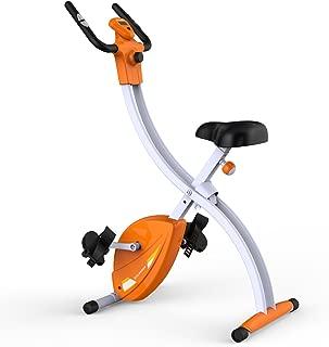 Fitleader FX2 Indoor Teenager Exercise Bike Folding Cycling Stationary Cardio Upright Bike Gym Stable Frame Design
