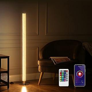 DEWENWILS WiFi Smart RGBW چراغ تغییر رنگ طبقه با کنترل از راه دور ، با الکسا ، Google Home ، چراغ های لوله ایستاده گوشه ای با نور قابل تنظیم مدرن برای اتاق نشیمن ، اتاق خواب ، حداکثر 2688LM نور روشن کار می کند