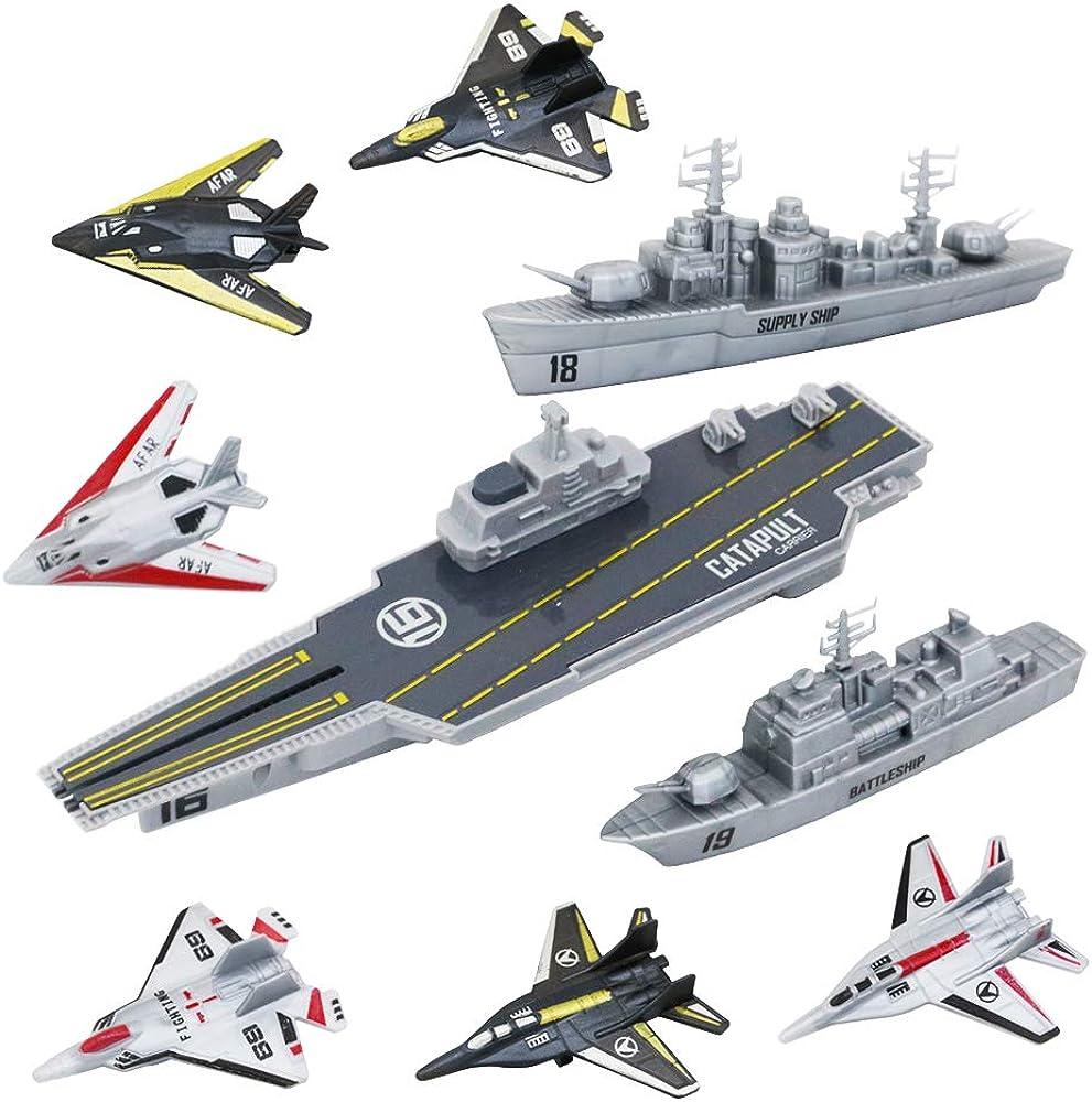 Deao unità di difesa militare gioco portaerei con funzione di espulsione set da 9 pezzi SAAC