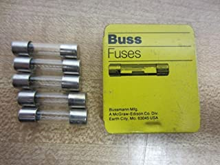 """Bussmann AGX-2 AGX Series Fuse, Fast Acting, 2 Amp, 250V, Glass Tube, 1/4"""" x 1"""" (Pack of 5)"""