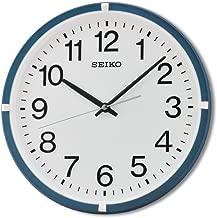Seiko Plastic Wall Clock (Metallic Blue)