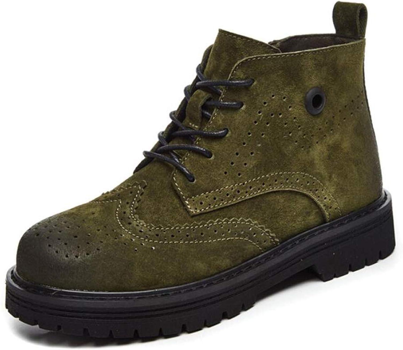 DANDANJIE Womens Martin Boots Retro Flat Heel Tube Short Boots Autumn and Winter