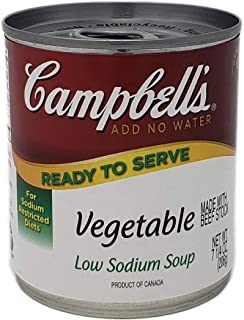 Campbells Ready To Serve Low Sodium Vegetable Soup - 7.25 oz. can, 24 per case