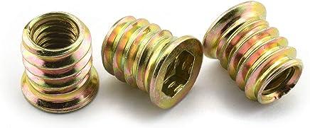 YXQ 120Pcs M6 Hex Lock Nuts Screw Fastener Nylon Zinc Plated Black Insert Female