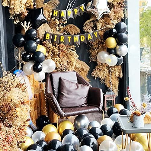 63Pcs Geburtstagsdeko, Geburtstag Dekoration, happy birthday girlande, 18. Geburtstag Dekorationen für Männer,Einschließlich