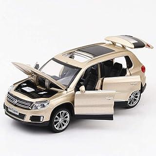 32 en Alliage Mod/èle de Voiture en Alliage et lumi/ère Pull Back SUV mod/èle de Voiture Cadeau de no/ël Vacances Autoks Mod/èle de Voiture Mod/èle de Voiture Mod/èle Swagen Tiguan L 1