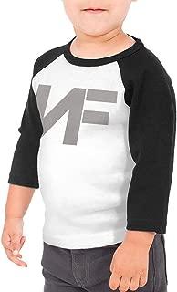 Baby Boys' Girls' NF Rapper Logo Print Tee T Shirt 3/4 Sleeve Tshirt for Kids Boys Girls T-Shirt Crew Neck Clothes
