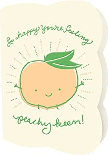 Peachy Keen Letterpress Recovery/Encouragement Card by Night Owl Paper Goods