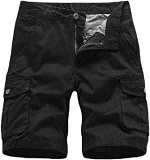 Coolred Mens Basic Cotton Multi-Pockets Beach Summer Sports Short Cargo Pants
