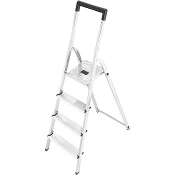 Hailo 8140-407 Escalera de tijera aluminio, 4 peldaños: Amazon.es: Hogar