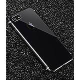 iPhone 6 メタルバンパー 対応 アイフォン6s ケース uovon 高品質アルミ製フレーム+バックプレート オシャレデザイン 耐衝撃 カバー・ブラック