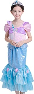 PIESWEETY Children Clothes Dresses Princess Dress Up Halloween Costume for Girls