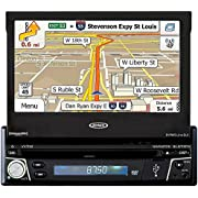 Jensen VX3012 1 DIN Multimedia Receiver, 7-Inch Touch Screen with Bluetooth and Built-in USB Port (Black)
