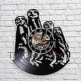 xcvbxcvb Safari Suricata Animales Familia Arte Decoración de Pared Reloj de Pared Diseño Moderno Reloj de Pared de Vinilo Reloj de Pared 3D Reloj de Pared Decoración de la habitación del niño