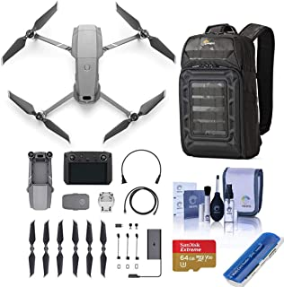 DJI Mavic 2 Zoom Drone with Smart Controller - Bundle with 64GB MicroSDXC Memory Card, Backpack, Cleaning Kit, Card Reader