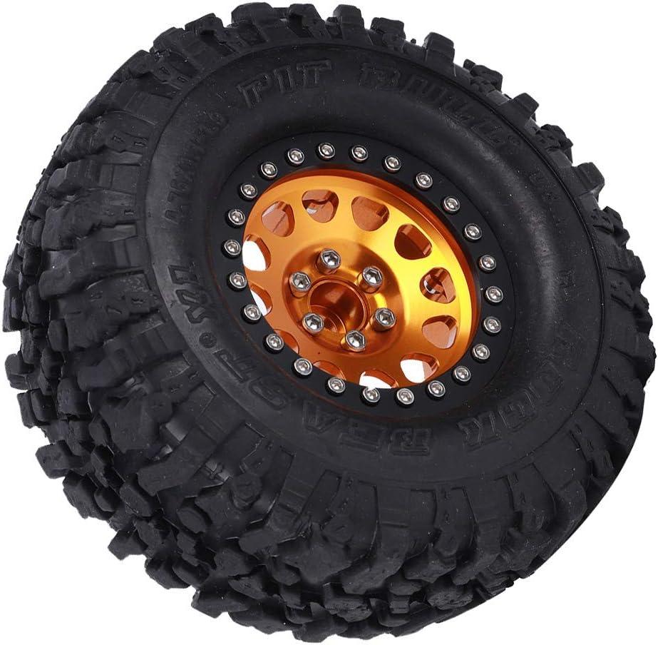 2,2 Zoll Gummi Metall Universal Crawler Radnabe RC Auto Zubeh/ör Ersatz Vbest life 4 St/ück RC Reifen