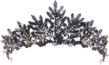 Alwayswe - Tiara para novia, boda, graduación, corona de cristal, elegante, accesorio para el pelo de novia, decoración de fiesta