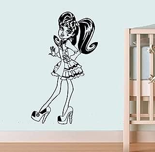 13 Wishes of Draculaura Wall Art Cartoon Monster High Wall Vinyl Decal Home Interior Decor Girls Boys Room CSh5