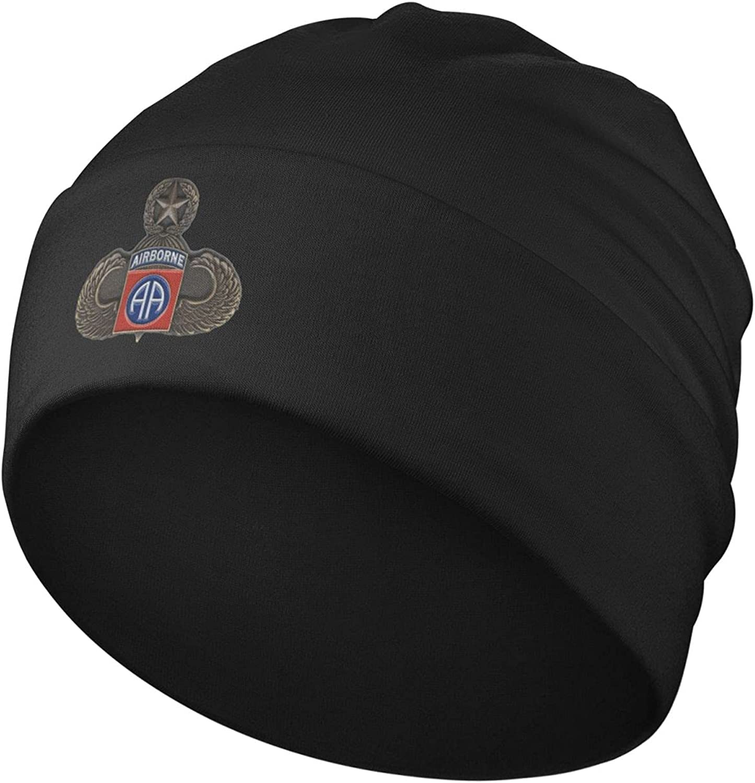 Us American Army 82nd Airborne Division Beanie Men Women - Unisex Cuffed Plain Skull Knit Hat Cap