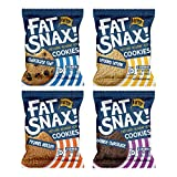 Fat Snax Keto Cookies - Low Carb, Keto, and Sugar Free (Variety Pack, 12-pack (24 cookies)) - Keto-Friendly & Gluten-Free Snack Foods