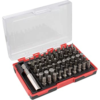 ABN Security Bit Set - 61 Piece Assorted Screwdriver Bits and Magnetic Extension Bit Holder, Impact Driver Bits