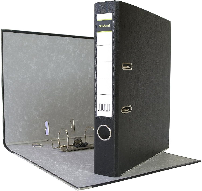 25 x Midori Ordner 5 cm Din Din Din A4 aus PP Kunststoff in Schwarz im A4 Format B01D0BSZZW | Moderne Muster  d1d7af