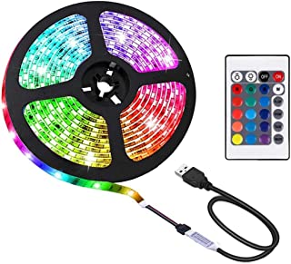 2M LED Strip Light TV Bias Backlight Kit for HDTV Desktop PC Fish Tank Decorations, Waterproof RGB Monitor Lighting with R...