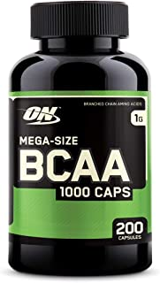 Optimum Nutrition Instantized BCAA Branched Chain Essential Amino Acids Capsules, 1000mg, 200 Count