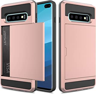 Galaxy S10 Plus Case, Elegant Choise Galaxy S10 Plus Wallet Case, Hybrid Shockproof Dual Layer Hard Shell with Card Holder Slot Bumper Armor Protective Cover for Galaxy S10 Plus(Rose Gold)