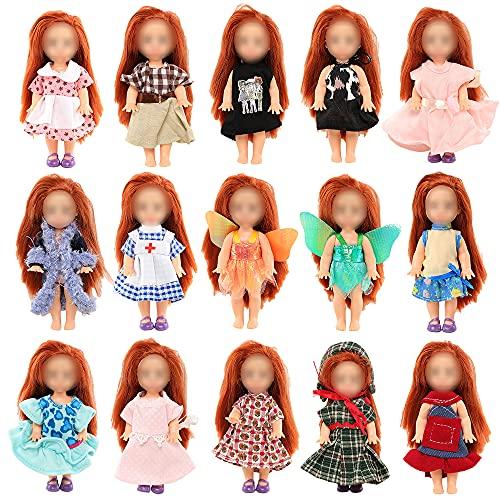 Miunana 6 Fashion Kleider Kleidung für 4 Zoll/ 10-11 cm Kelly Doll and Chelsea Puppen