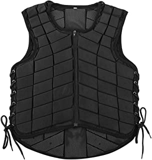 Estink Horse Riding Vest, Zippered Body Safety Guard Waistcoat Protective Gear