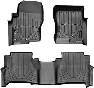WeatherTech Custom Fit FloorLiner for Nissan Frontier -1st & 2nd Row (Black)