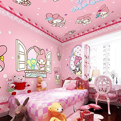 3d cartoon bunny kinderzimmer tapete rosa prinzessin zimmer schlafzimmer hintergrundbild süßes mädchen nachtwandbild300cm×210cm