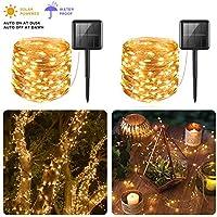 2-Pack Pcjhsp 33-Foot Solar Powered String Light