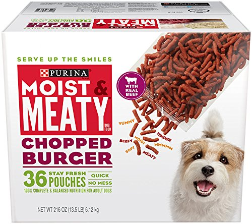 Purina Moist & Meaty Chopped Burger Adult Wet Dog Food - 36 Ct. Pouch