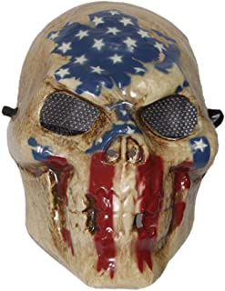The Purge Skull Mask with USA Flag Print Halloween Costume Skeleton Fancy Dress Election Year