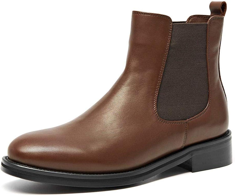Beau Today Chelsea stövlar kvinnor kvinnor kvinnor Cow läder Ankle skor (5.5, bspringaaa)  de senaste modellerna