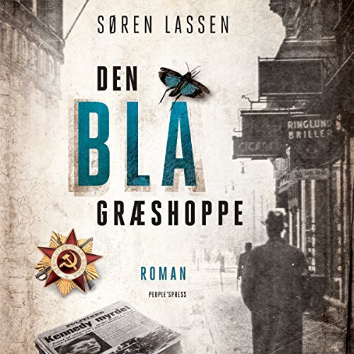 Den blå græshoppe audiobook cover art