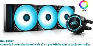 DEEPCOOL Gammaxx L360 V2, Refrigeración Liquid para CPU, Aplicado Tecnología Anti-Fugas, Bloque de Agua y Ventiladores RGB SYNC, Controlado por la Placa Base o Controlador de Cable, Garantía de 3 Años