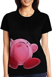 カービィ (3) レディース ファッション トップス 半袖 Tシャツ 夏 春 ゆったり シンプル