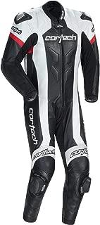 Cortech Adrenaline RR Leather One-Piece Suit (Large) (Black/White)