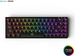 Durgod Hades 68 RGB Mechanical Gaming Keyboard - 65% Layout - OEM Profile - NKRO - USB Type C - Aluminium Chassis (Cherry ...