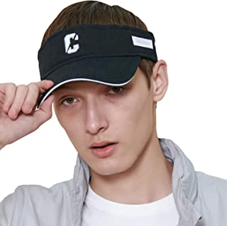 CACUSS Men's Cotton Sun Visor Caps Sports Beach Golf Hat with Adjustable Nylon Buckle