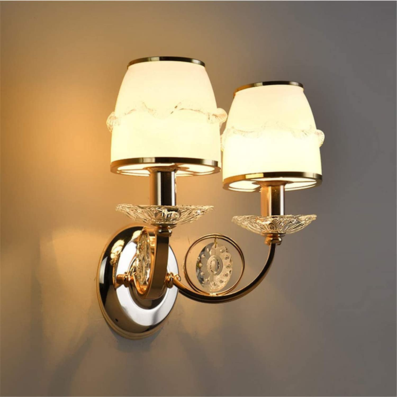 Chandelierwall Wandleuchte Wandleuchten Nordic Kreative Beleuchtung Wohnzimmer Schlafzimmer Nacht Gang Balkon Badezimmer Lampe 5 Sterne Gold Led Wand [Energieklasse A ++]