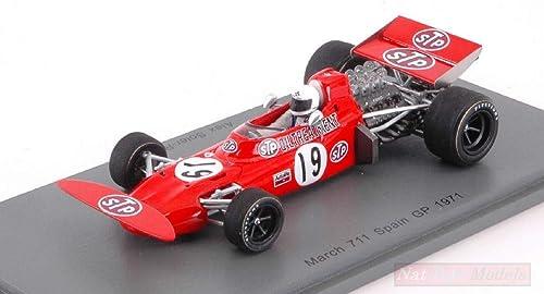muchas concesiones Spark Model S7160 S7160 S7160 March 711 Alex Soler-Roig 1971 N.19 DNF Spanish GP 1 43 Model Compatible con  hasta un 60% de descuento